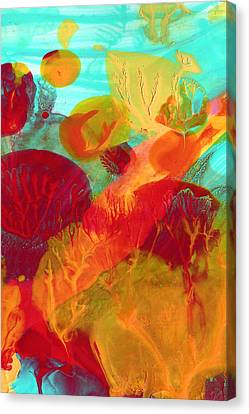 Under The Sea Abstract 6 Canvas Print by Amy Vangsgard