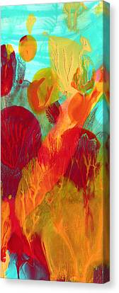 Colorful Abstract Canvas Print - Under The Sea Abstract Panoramic 2 by Amy Vangsgard