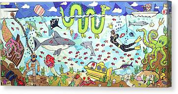 Turtle Shell Canvas Print - Under The Sea by Blair Barbour