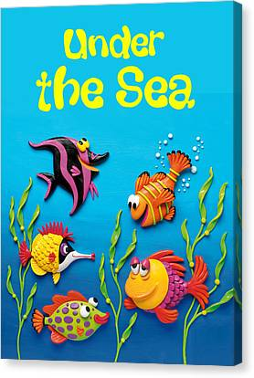 Under The Sea Poster Canvas Print by Amy Vangsgard