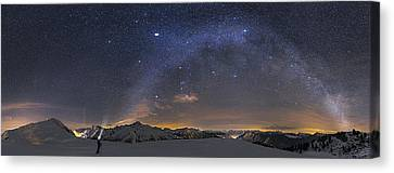 Under The Starbow Canvas Print by Dr. Nicholas Roemmelt