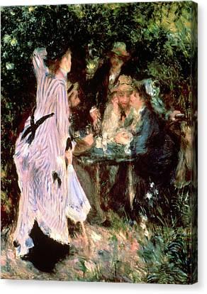Under The Trees Of The Moulin De La Galette Canvas Print by Pierre Auguste Renoir