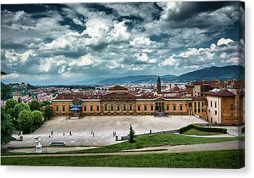 The Meridian Palace And Cityscape In Florence, Italy Canvas Print