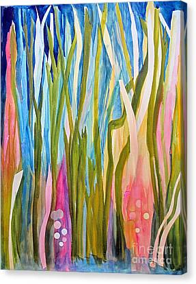 Canvas Print featuring the painting Under Water by Sandy McIntire