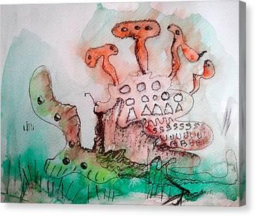 Under Ze Sea Canvas Print