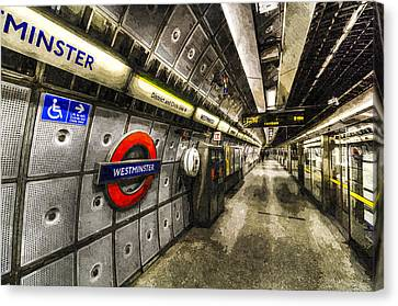 Underground London Art Canvas Print by David Pyatt