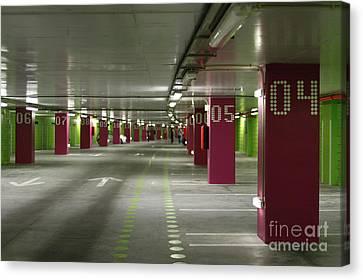 Underground Parking Lot Canvas Print by Gaspar Avila