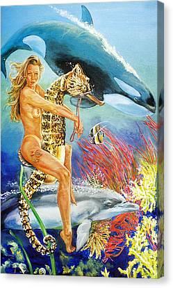 Undersea Fantasy Canvas Print by Bryan Bustard