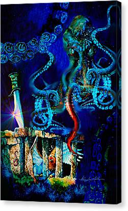 Undersea Fantasy Illustration Canvas Print by Hanne Lore Koehler