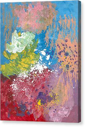 Underwater Abstract Canvas Print by Helene Henderson