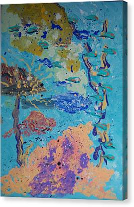 Underwater Abstract No. 3 Canvas Print by Helene Henderson