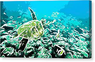 Underwater Landscape 1 Canvas Print by Lanjee Chee