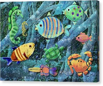 Underwater Maze Canvas Print by Arline Wagner