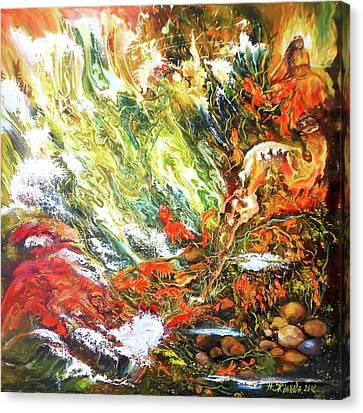 Underwater Odyssey In Abstract/simbolism Style  Canvas Print by Natalya Zhdanova