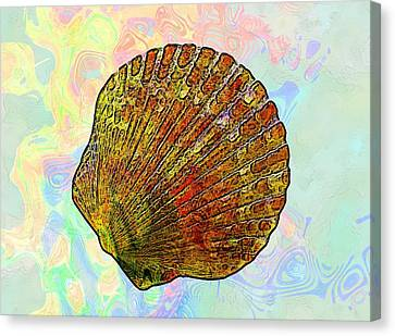 Seaweed Canvas Print - Underwater. Sea Shells by Elena Kosvincheva