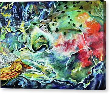 Underwater Streamer Canvas Print by Lacey Hermiston