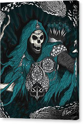 Canvas Print featuring the drawing Underworld Archer Of Death by Raphael Lopez