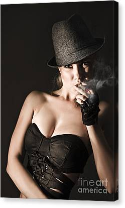 Underworld Gangster Woman Canvas Print