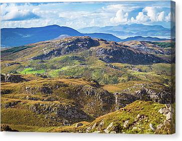 Canvas Print featuring the photograph Undulating Landscape In Kerry In Ireland by Semmick Photo