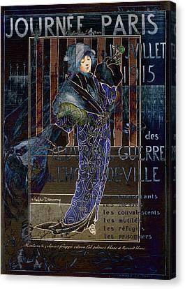 Une Valentine Parisienne Canvas Print by Sarah Vernon