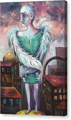 Canvas Print - Unemployed Angel by Elisheva Nesis