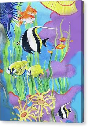 Under The Sea Canvas Print by Janis Grau