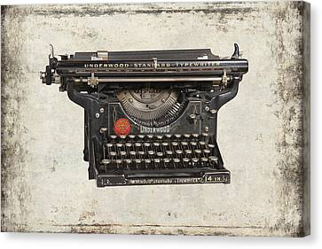 Typewriter Keys Canvas Print - Unerwood Standard Typewriter by Daniel Hagerman