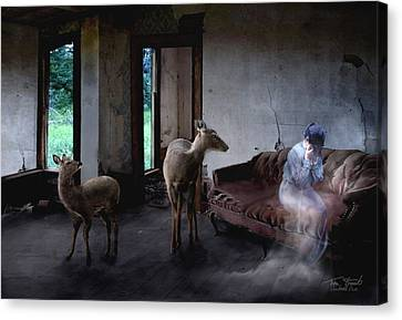 Unexpected Company Canvas Print by Tom Straub