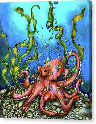 Unexpected Octopus Canvas Print by Jessica Nunno