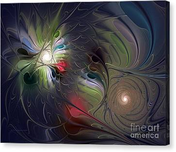 Canvas Print featuring the digital art Unfading by Karin Kuhlmann