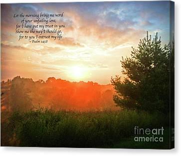 Canvas Print featuring the photograph Unfailing Love by Kerri Farley