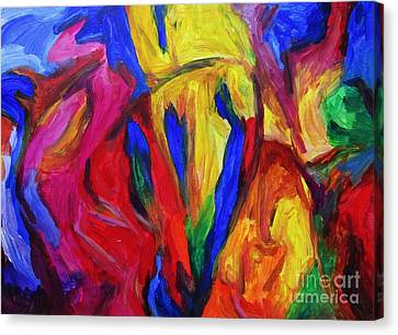 Canvas Print featuring the painting Unfettered by Dianne  Connolly