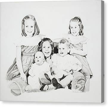 Unfinished Sisters Canvas Print by Pat Saunders-White