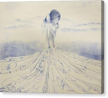 Unfolding The Twilight Canvas Print by Leonardo Pereznieto