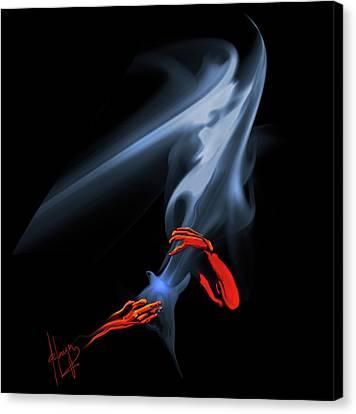 Unholy Smoke Canvas Print by DC Langer