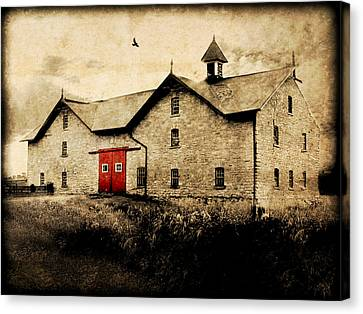 Uni Barn Canvas Print by Julie Hamilton