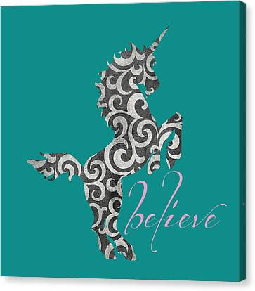 Unicorn Believe  Canvas Print by Brandi Fitzgerald