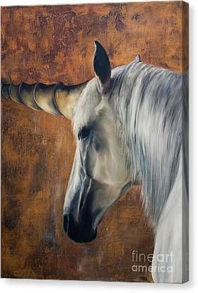 Unicorn - A Magical Blessing - Symbol Of Purity Canvas Print by Julie Bond