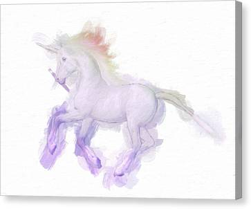 Unicorn By Mary Bassett Canvas Print by Mary Bassett