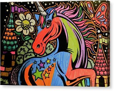 Unicorn Castle Canvas Print by Allison Stanley