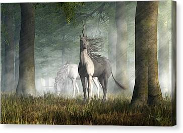 Unicorn Canvas Print by Daniel Eskridge