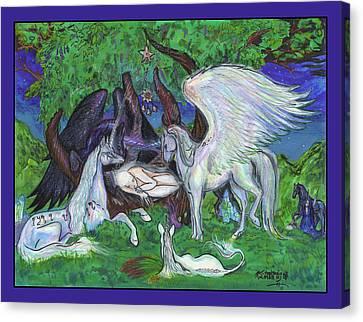 Unicorn Healing Canvas Print