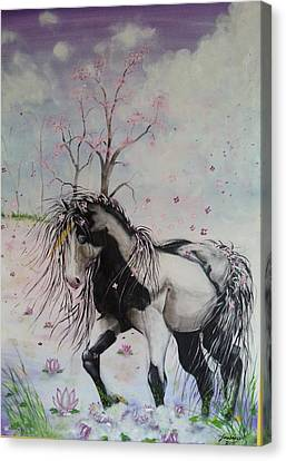 Unicorn In The Wind Canvas Print