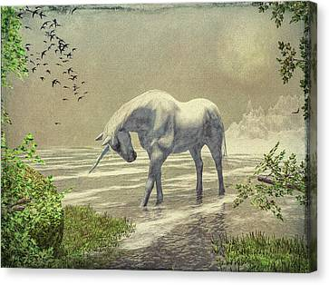 Unicorn Moon Canvas Print by Bob Orsillo