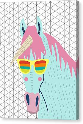 Extinct And Mythical Canvas Print - Unicorn by Nicole Wilson