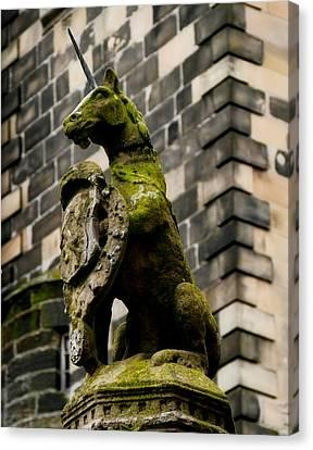 Unicorn Of Scotland Canvas Print by Jane Selverstone