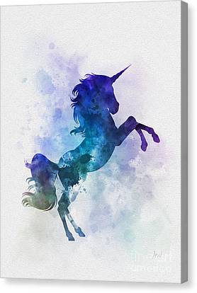 Unicorns Canvas Print - Unicorn by Rebecca Jenkins