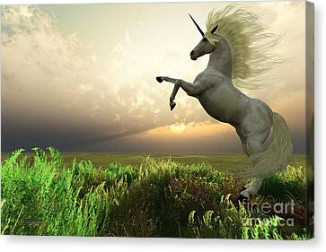 Unicorn Stag Canvas Print by Corey Ford