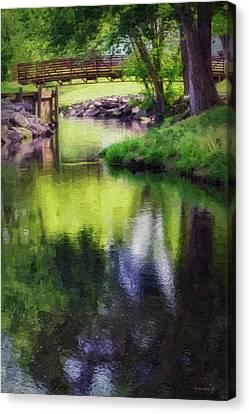 Unicorn Stream Bridge - Paint Fx Canvas Print by Brian Wallace