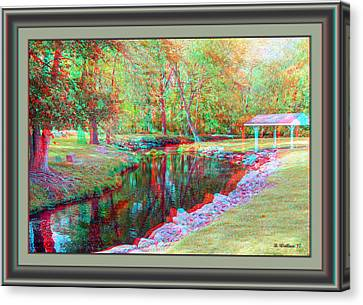 Unicorn Stream - Use Red-cyan 3d Glasses Canvas Print by Brian Wallace